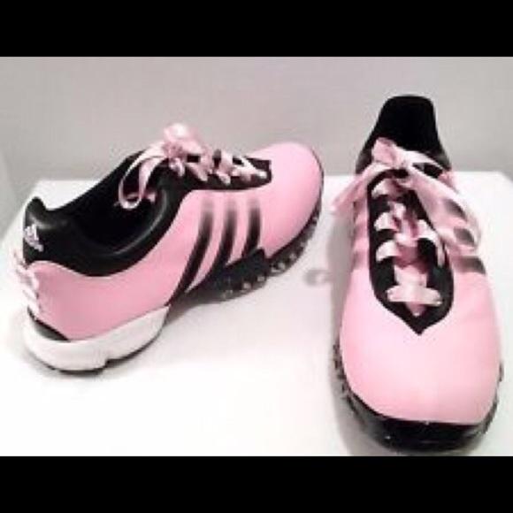 Adidas Womens Golf Shoes Paula Design Pink sz 7